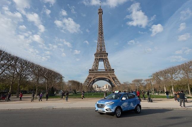 fuel cell taxi en paris