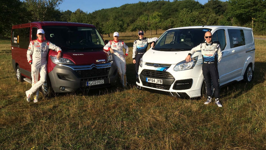 Citroën y M-Sport compiten por el título de rallyes… ¡con furgonetas!