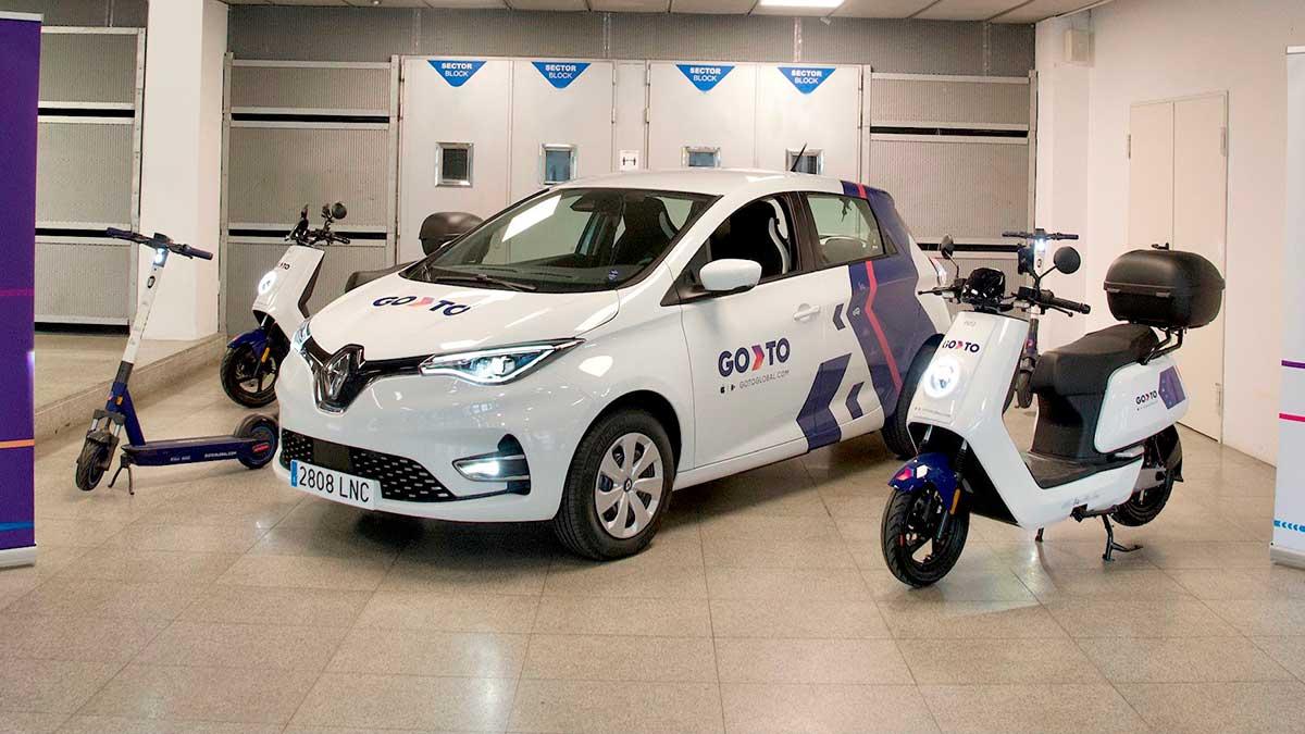 GoTo: la primera app que ofrece una flota propia de coches, motos y patinetes compartidos