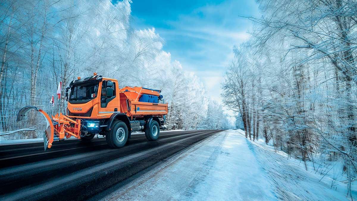 Los vehículos industriales IVECO, claves durante la gran nevada provocada por Filomena