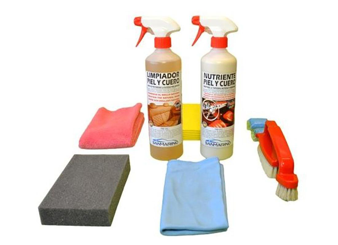 kit profesional limpieza tapicerias piel y cuero 750 ml 1