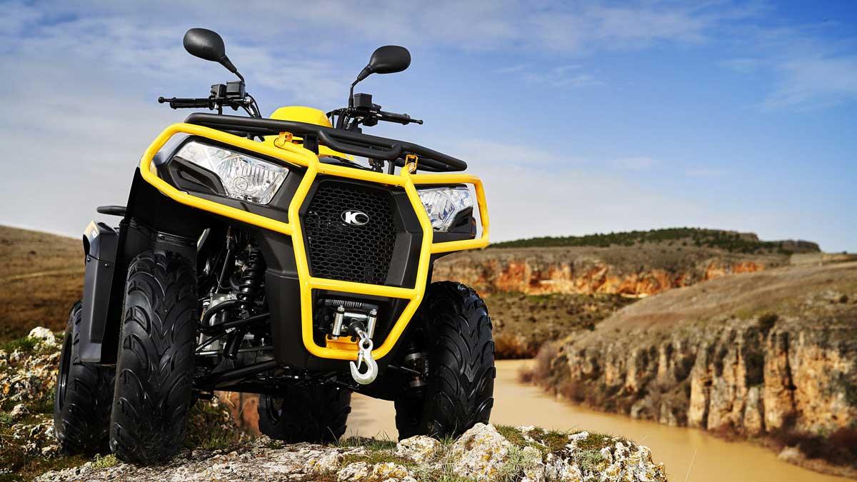 kymco mxu 300ambiente amarillo