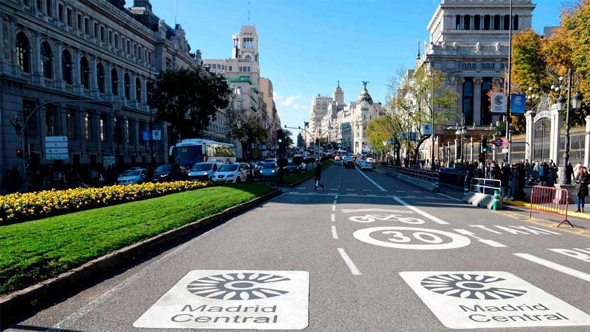 Eliminar las señales de Madrid Central costará 185.000 euros