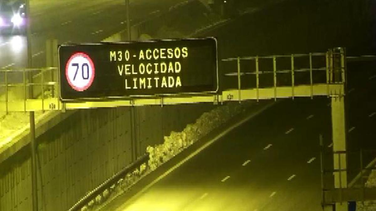 La M-30 limitada a 70 km/h: Madrid activa el escenario 1 del protocolo anticontaminación