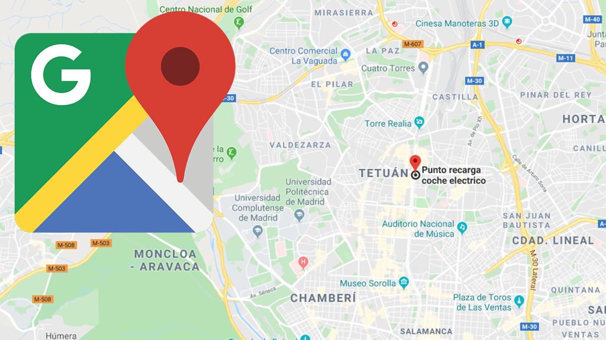 maps recarga electricos