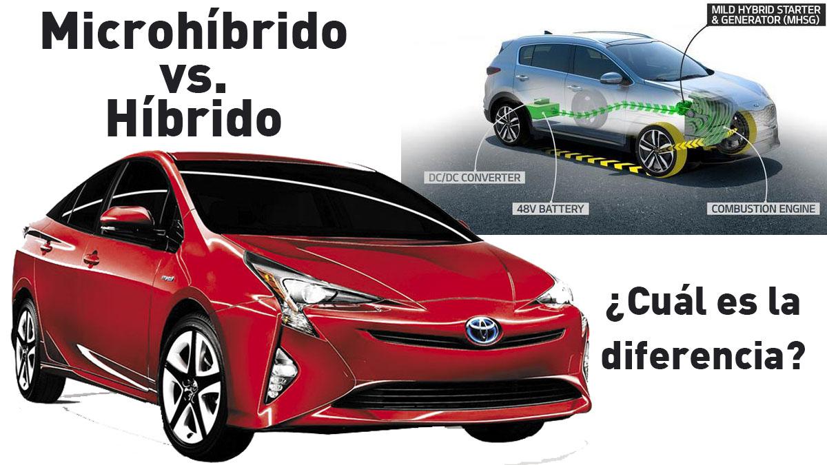 ¿Cuál es la diferencia  entre coche híbrido y microhibridación?