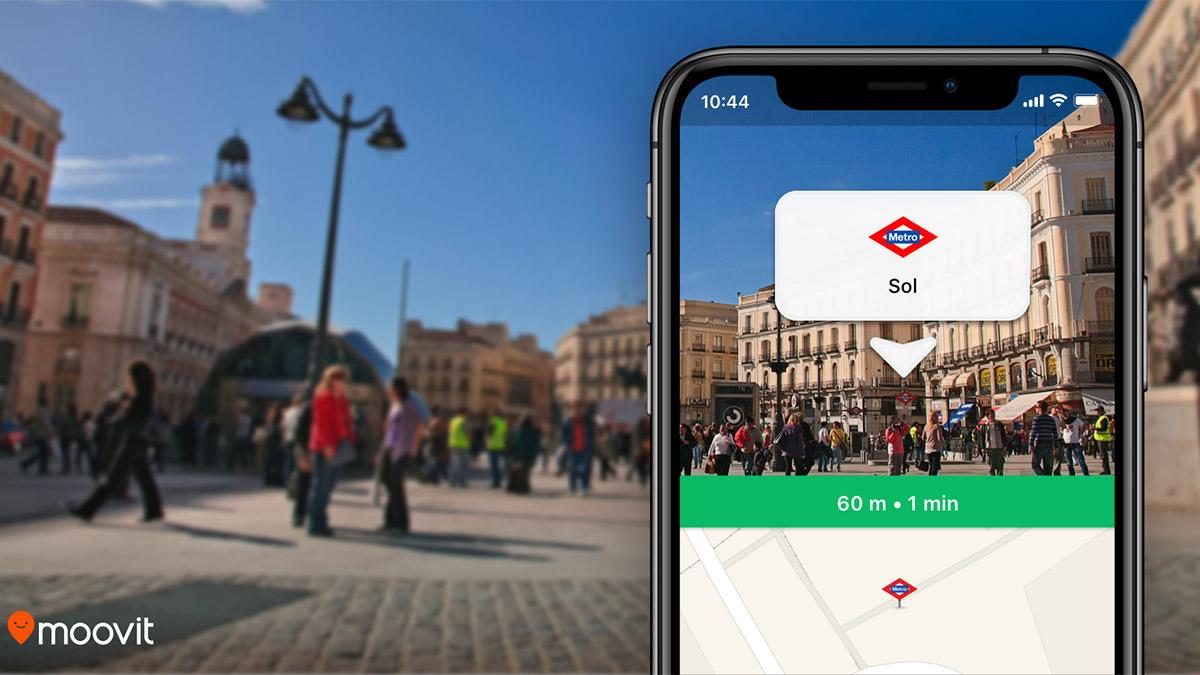 La realidad aumentada ya está disponible en Moovit