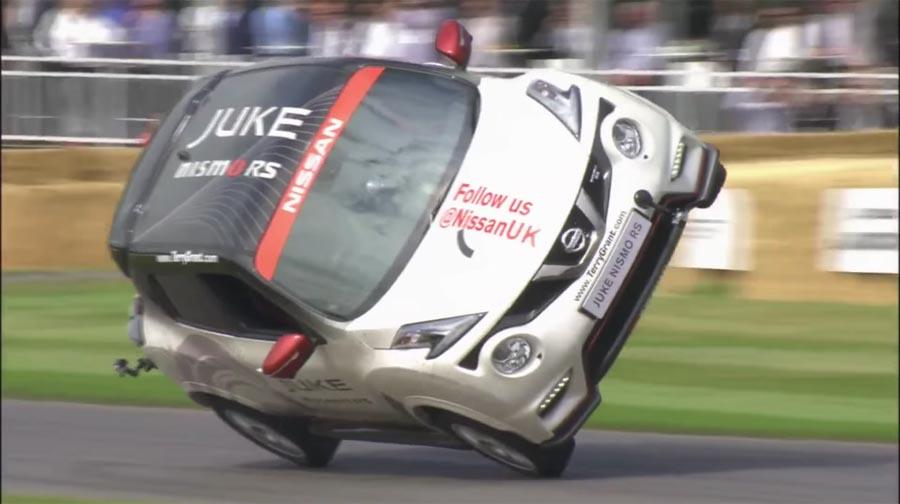Así batió el Nissan Juke Nismo RS el record de velocidad ¡a dos ruedas!