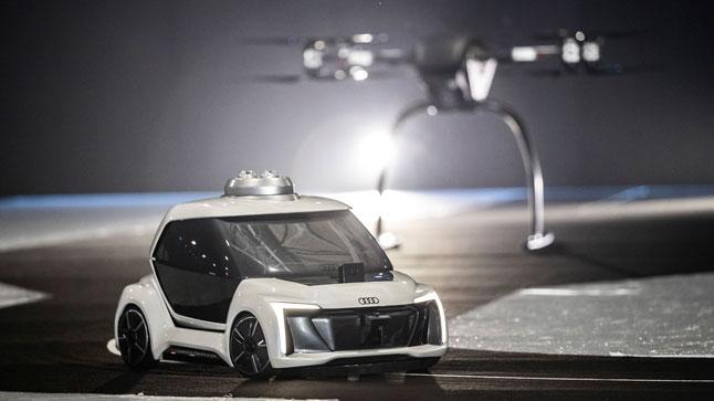 El taxi aéreo de Audi, Italdesign y Airbus vuela y circula por Ámsterdam