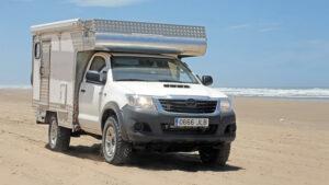 Fotos. Preparación Toyota Hilux 2.5D autocaravana