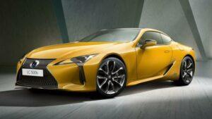 Fotos del Lexus LC 500h Yellow Edition