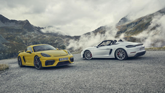 Porsche 718 Cayman GT4 y 718 Spyder GT4: 420 CV de músculo atmosférico