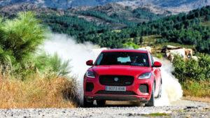 Fotos de la prueba por campo del Jaguar E-Pace