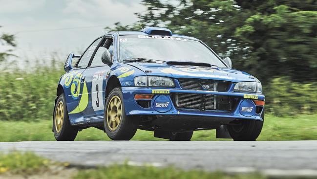 Prueba del Subaru Impreza S3 WRC 97,  el coche de Colin McRae