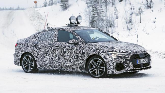 Audi S3 Sedán 2020: cazado durante las pruebas de invierno