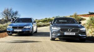 Fotos del BMW M550D vs Volvo V90 T8