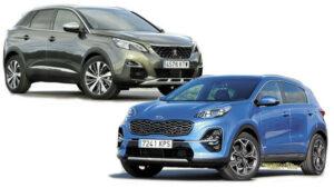 Fotos de la comparativa entre el Peugeot 3008 y el Kia Sportage