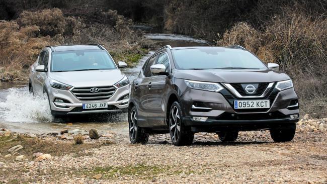 Nissan Qashqai 1.6 dCi 4×4 vs Hyundai Tucson 2.0 CRDI 4WD