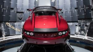 Fotos del Tesla en el espacio