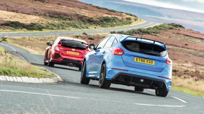 Honda Civic Type R vs Ford Focus RS vs Seat León Cupra
