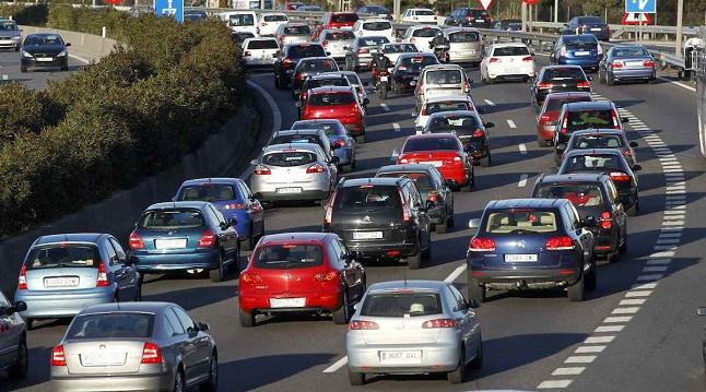 trafico coches retenciones