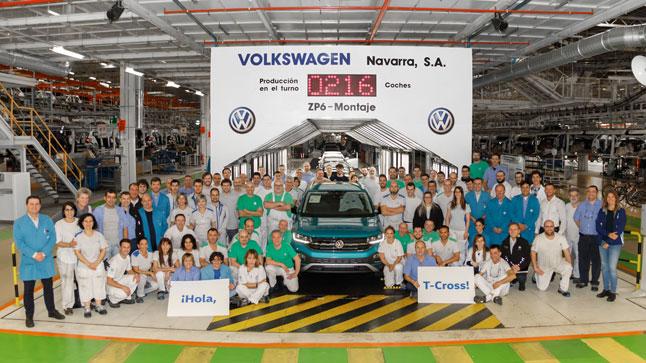 volkswagen navarra comienza la produccion en serie del nuevo volkswagen t cross