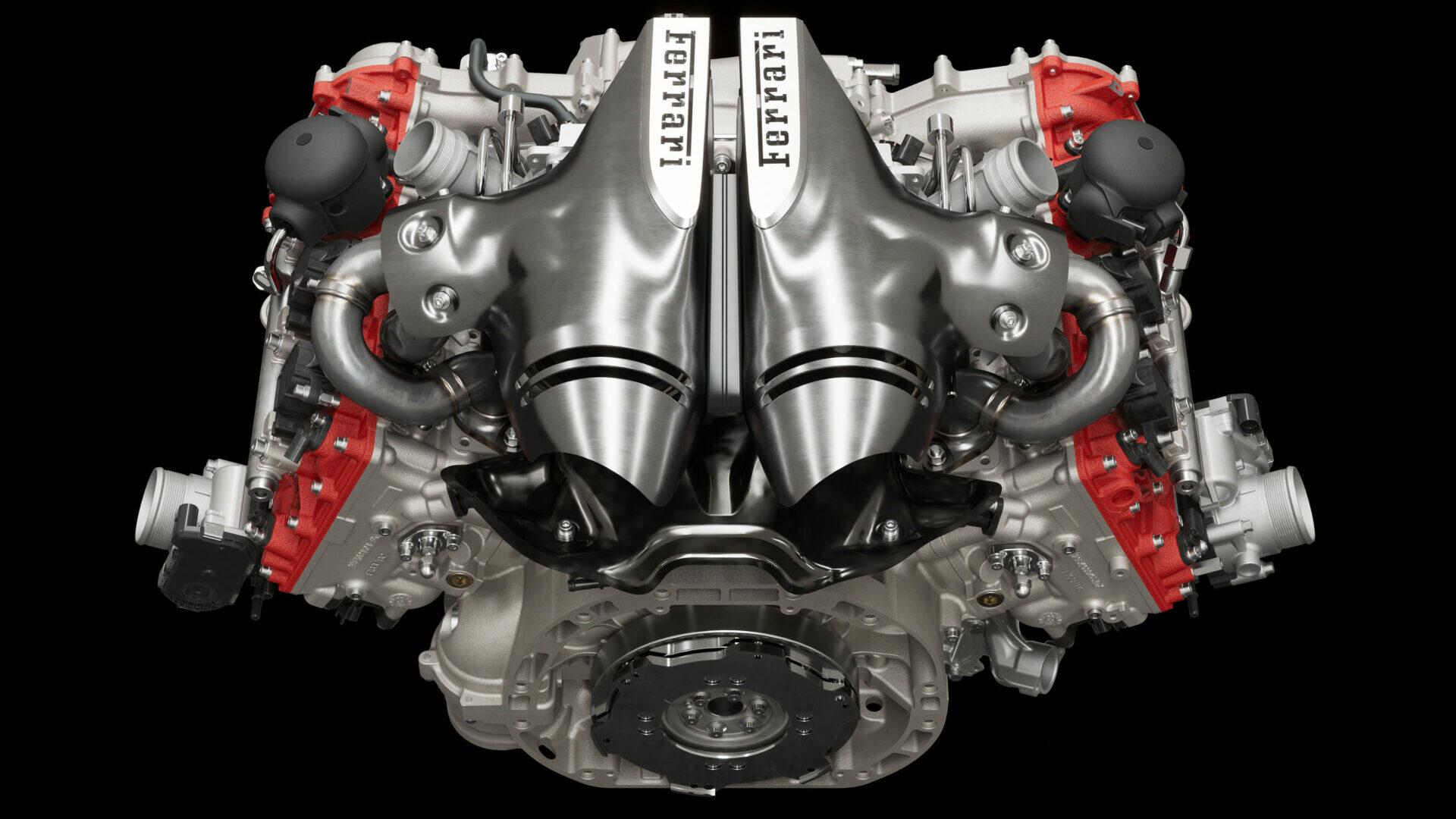 Ferrari 296 GTB motor