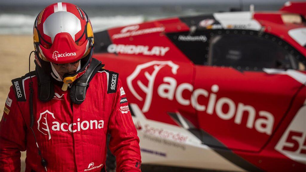 Carlos Sainz en el Ocean X Prix del Extreme E
