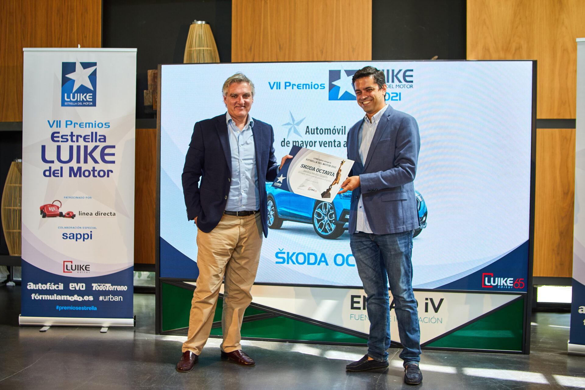 El Skoda Octavia, Estrella LUIKE al Automóvil Medio de Mayor Venta a Particulares