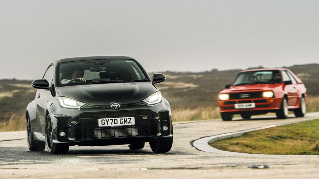 Toyota Yaris Gr vs Audi sport quattro