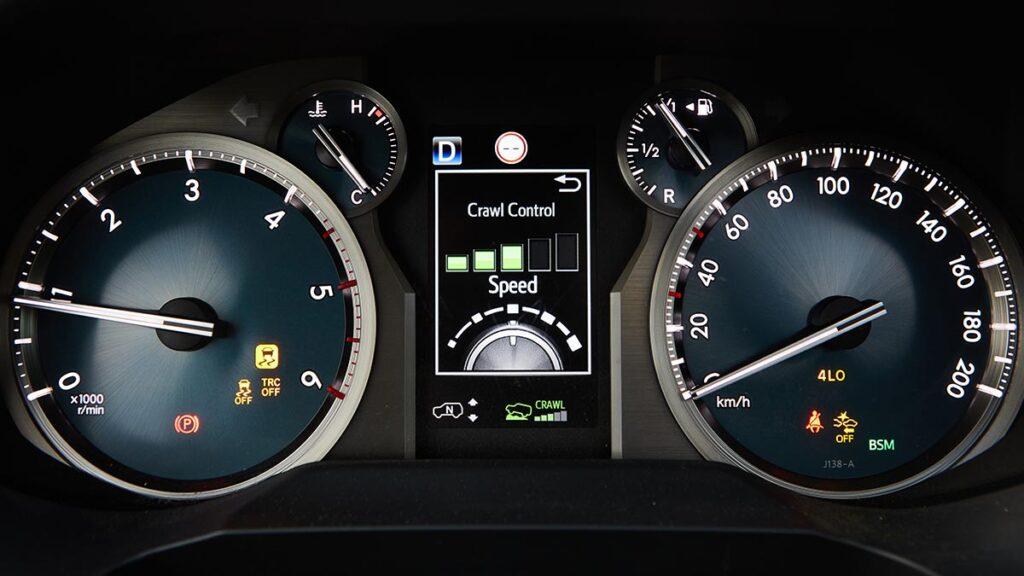 Toyota Land Cruiser crawl control