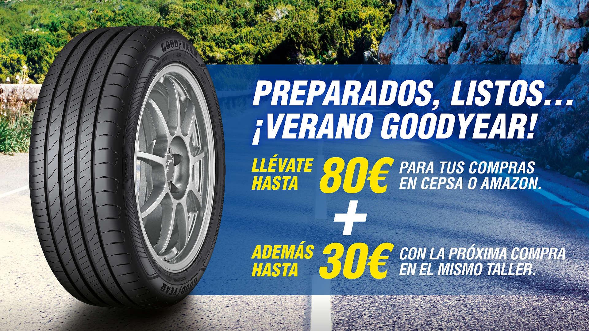 Prepara tu coche para el verano con esta promoción de neumáticos Goodyear