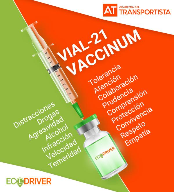 Vacuna Vial 21 para conductores