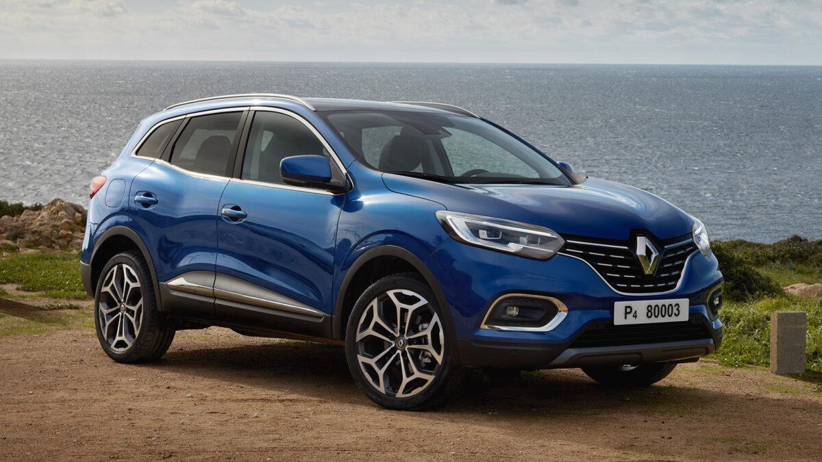 Renault Kadjar 2021 frontal azul
