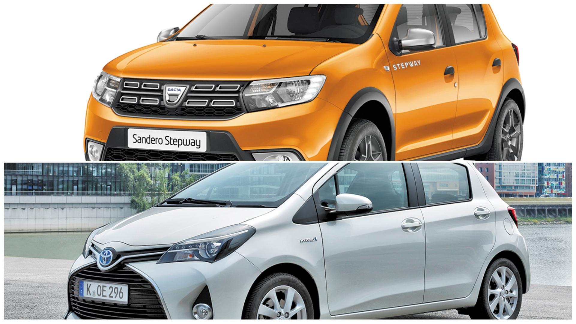 Necesito un urbano con etiqueta ECO de segunda mano: ¿compro el Dacia Sandero GLP o Toyota Yaris Hybrid?