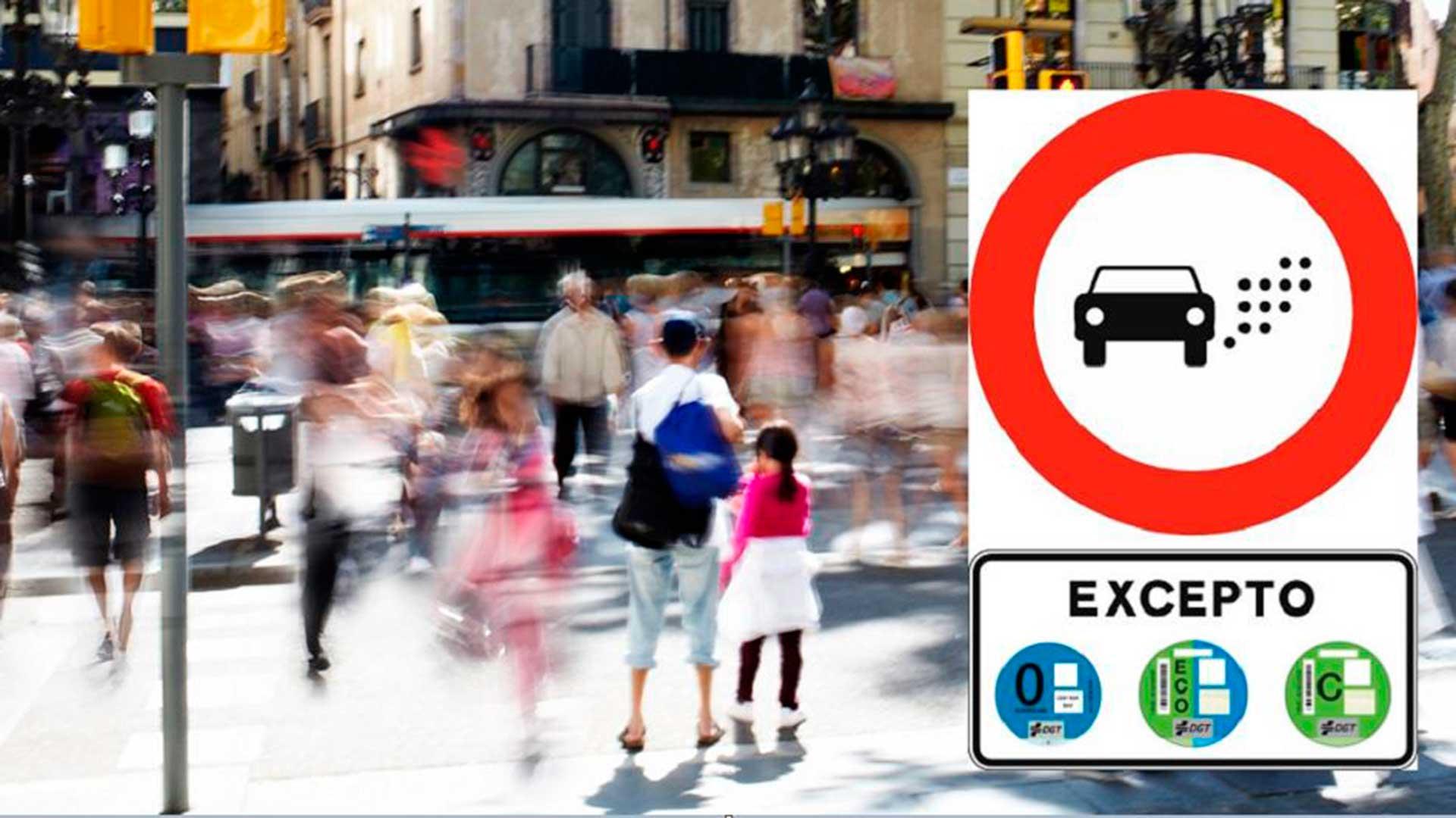 La nueva señal de la DGT para acceder la ZBE de Barcelona