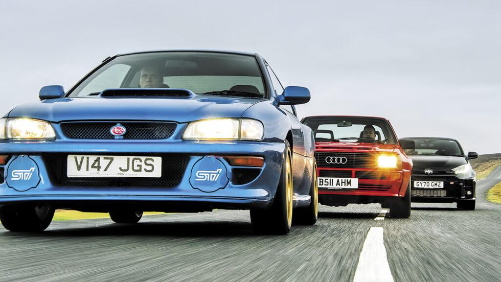 Toyota GR Yaris vs. Audi Sport Quattro vs. Subaru Impreza B22