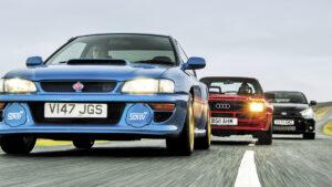 Fotos: Toyota GR Yaris vs. Audi Sport Quattro vs. Subaru Impreza B22
