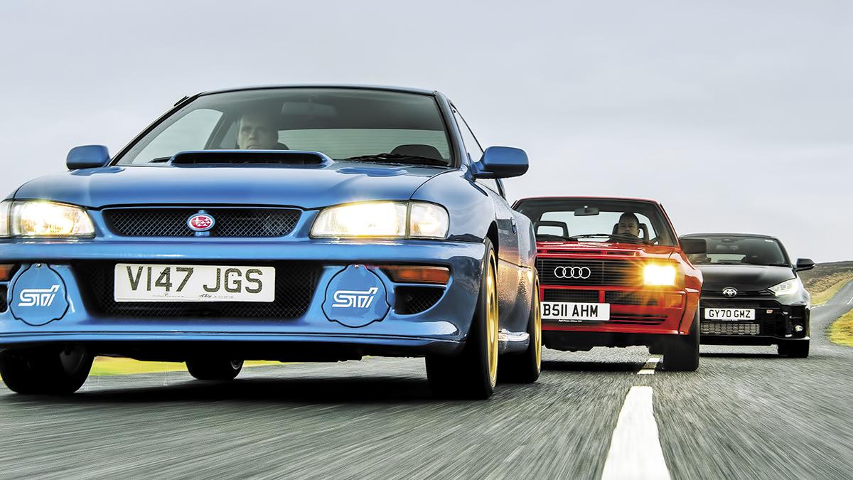 Toyota GR Yaris vs. Audi Sport Quattro vs. Subaru Impreza B22: bestias de los rallyes