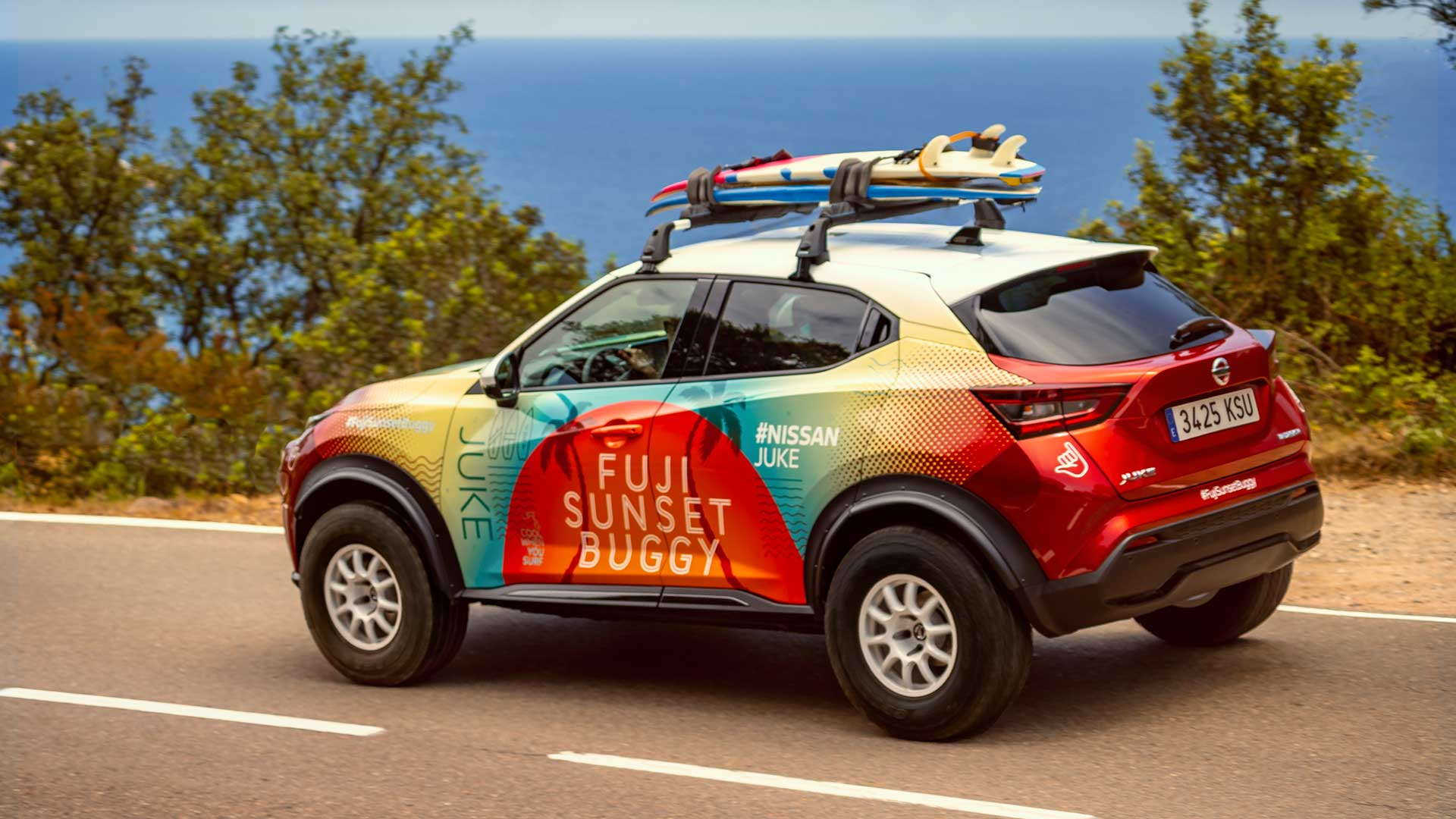 Nissan Juke Fuji Sunset Buggy: un prototipo para disfrutar en la playa
