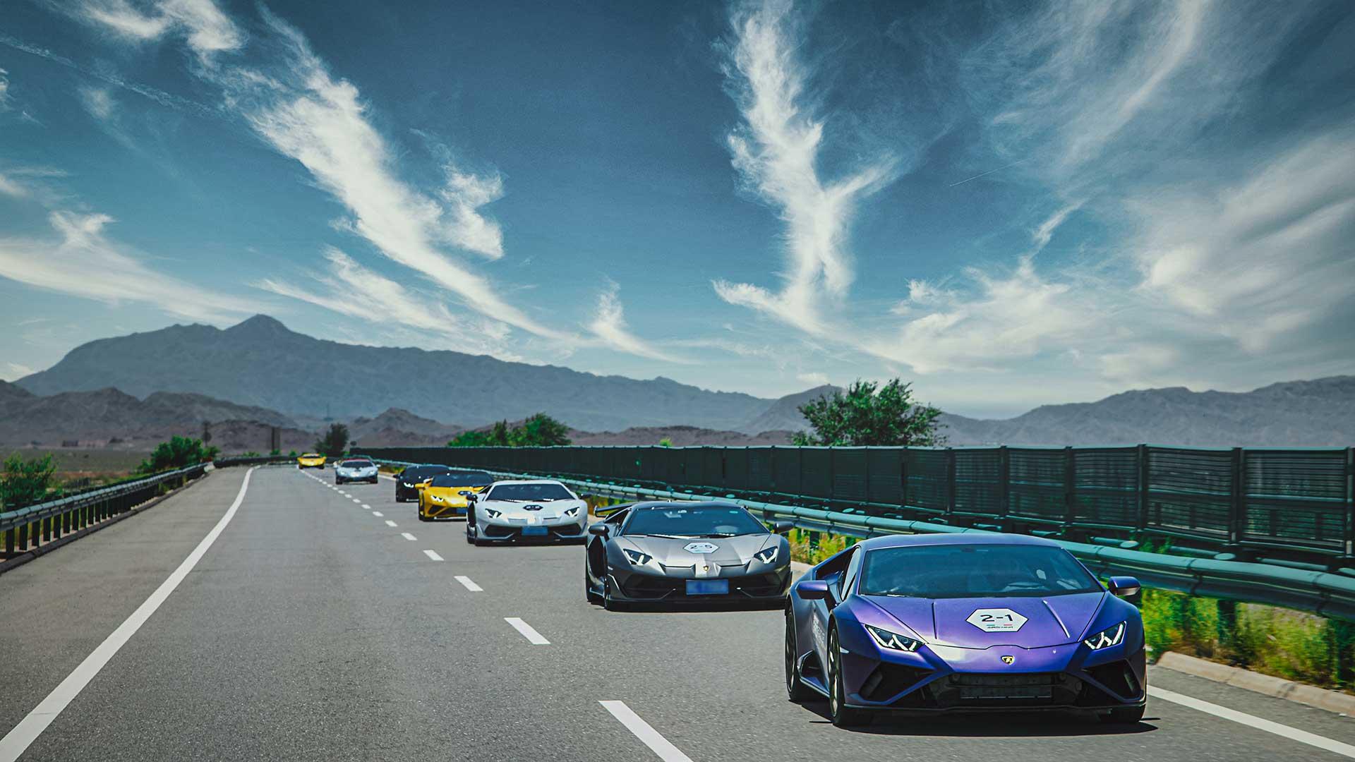 Lamborghini Esperienza Giro: una expedición de 42 Lamborghini reunidos en el noroeste de China