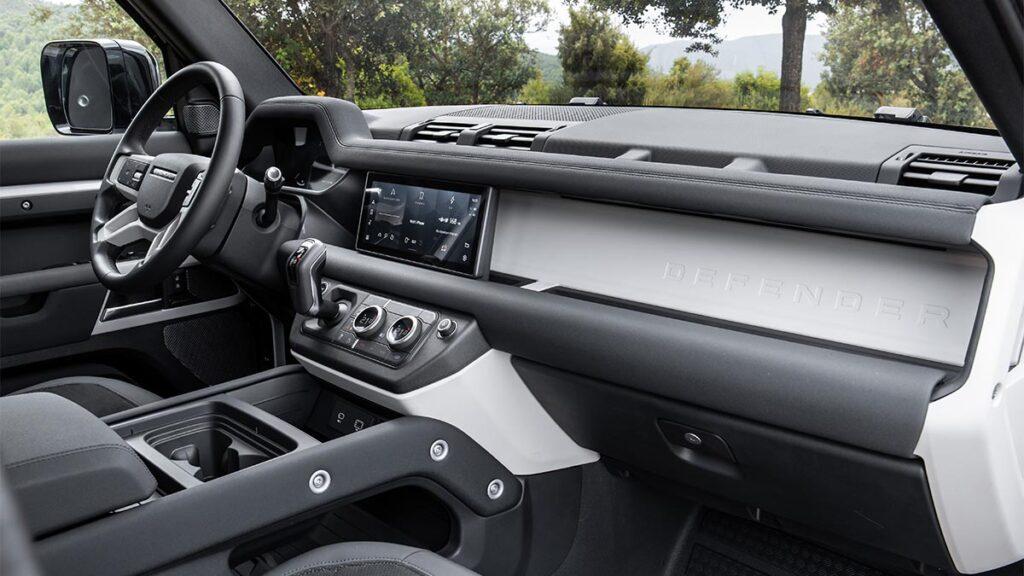 Land Rover Defender P400e PHEV interior