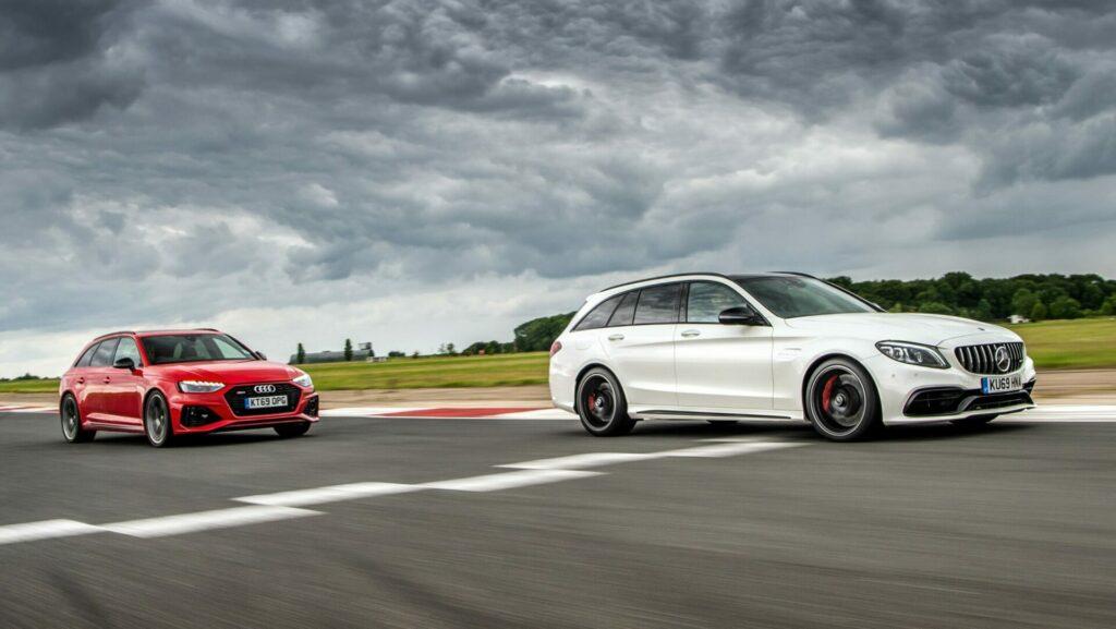 Mercedes AMG C63 S Estate v Audi RS4 Avant feature 2