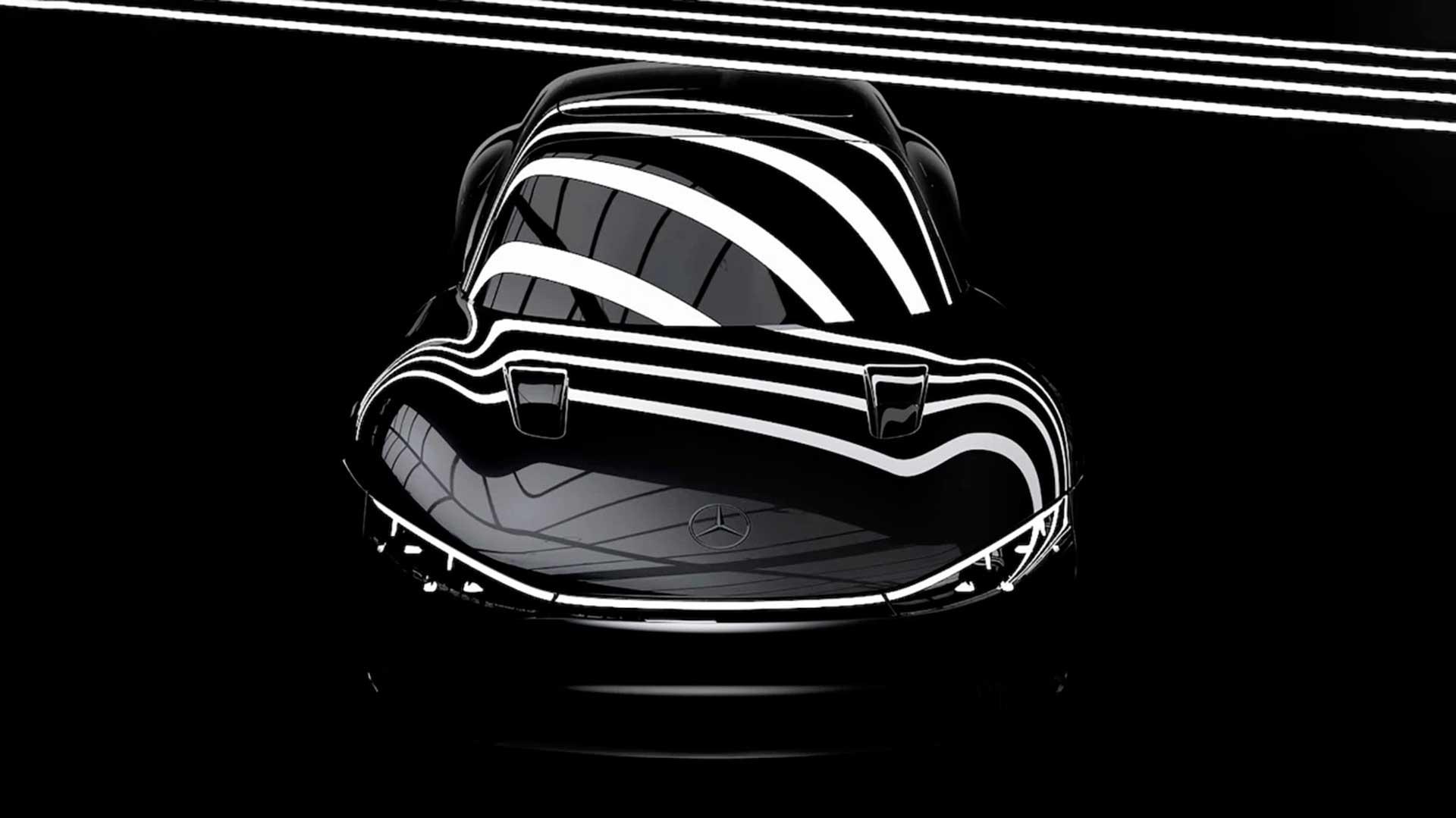 Teaser del Mercedes-Benz Vision EQXX: una berlina eléctrica con casi 1.000 km de autonomía