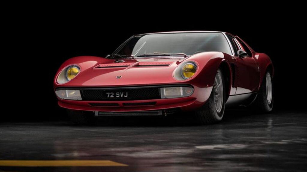 A la venta uno de los únicos 3 Lamborghini Miura SVJ que existen en el mundo