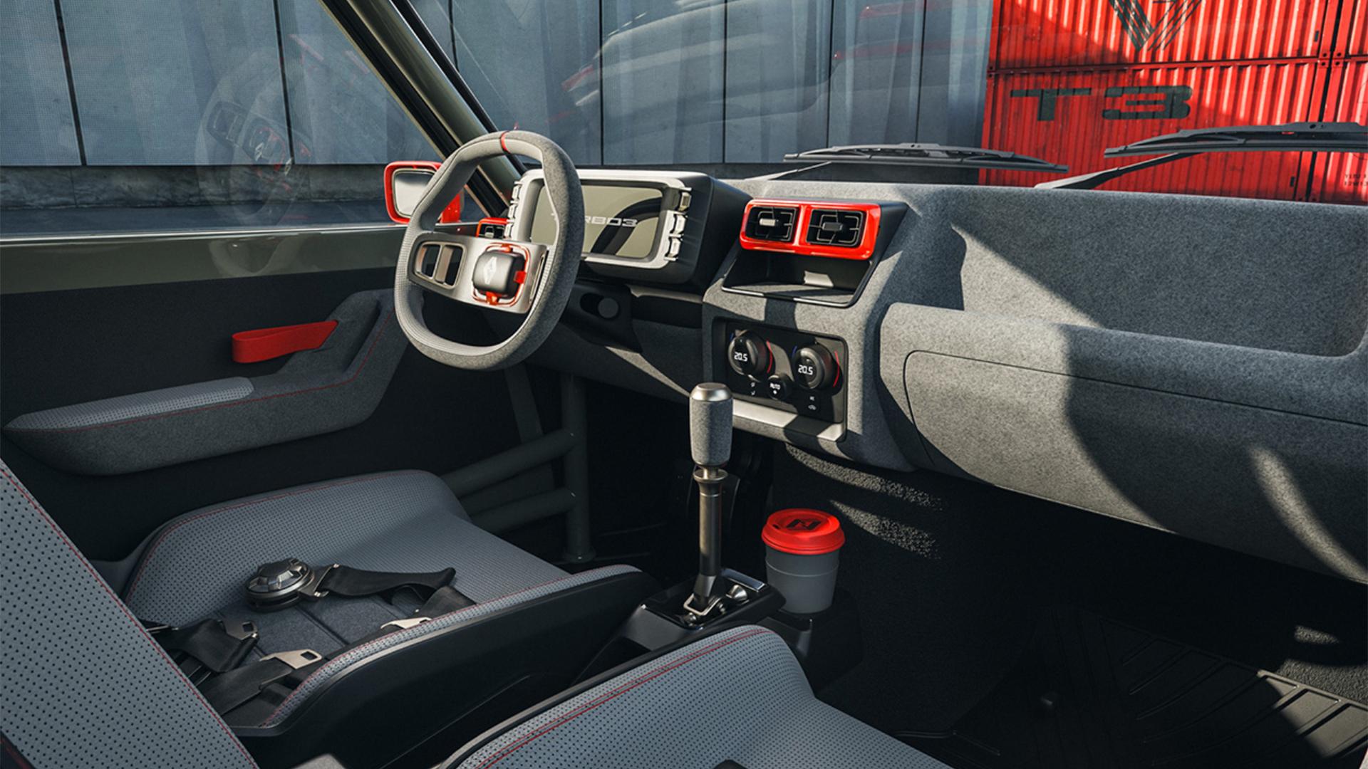 Renault 5 Turbo 3 by Legende Automobiles interior