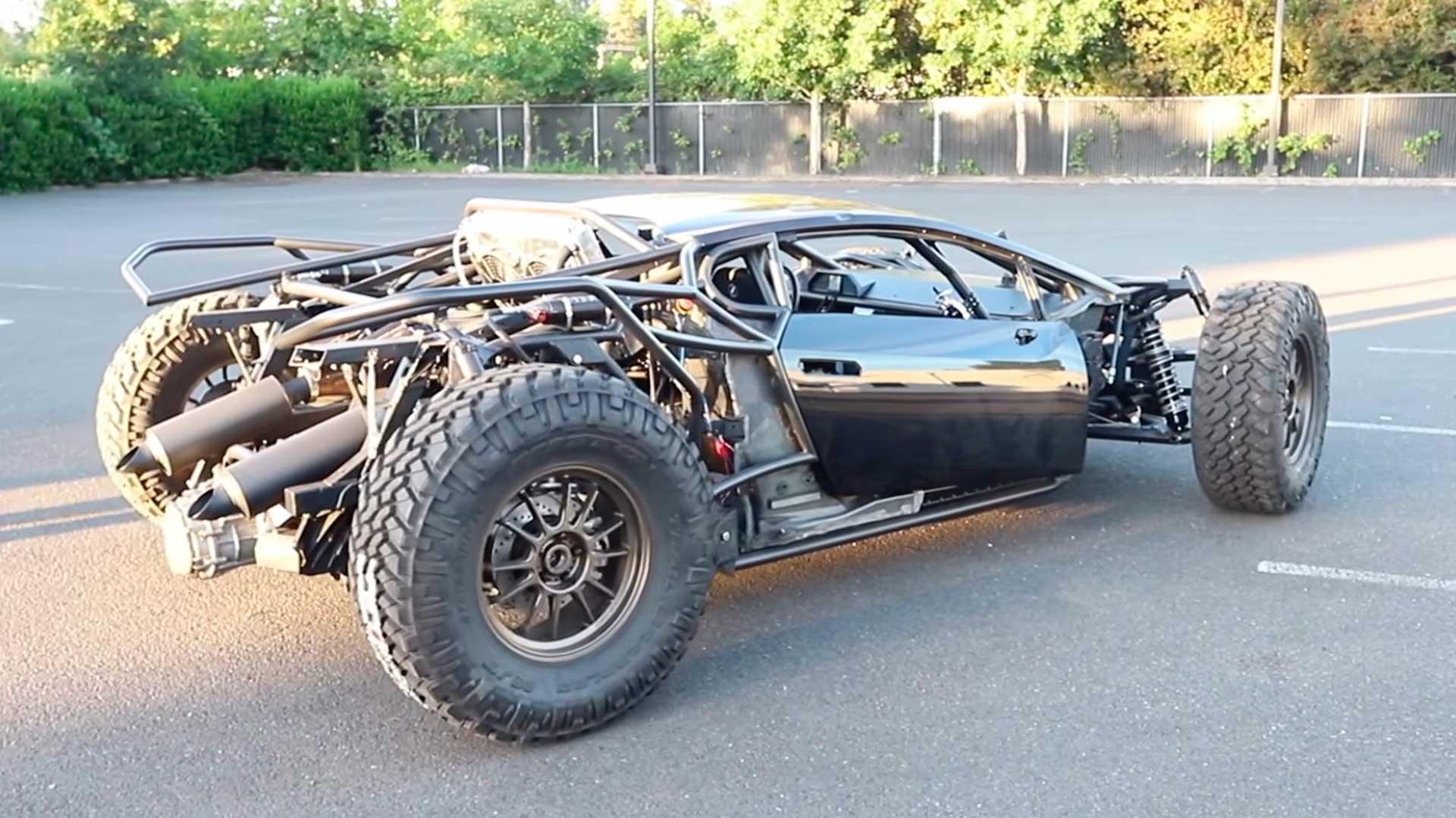 Lamborghini Huracán off-road: del desguace a disputar competiciones 4×4