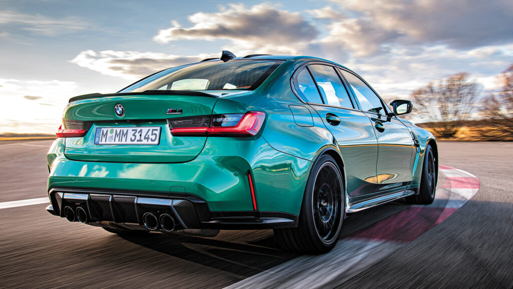 BMW M3 Competition trasera