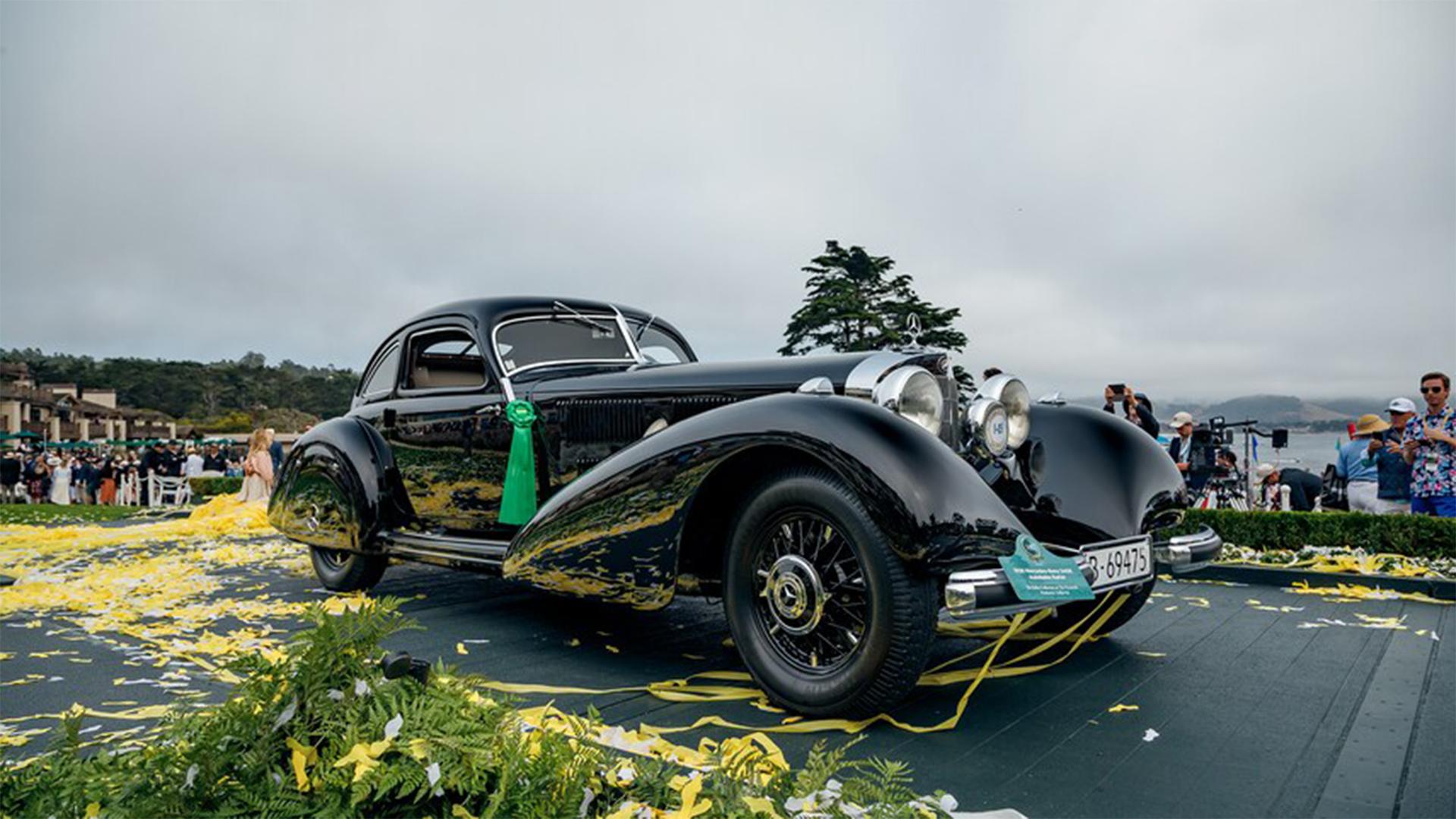 Este Mercedes-Benz 540K Autobahn Kurier de 1938 es el ganador de la 70ª edición del Concurso de Elegancia de Pebble Beach