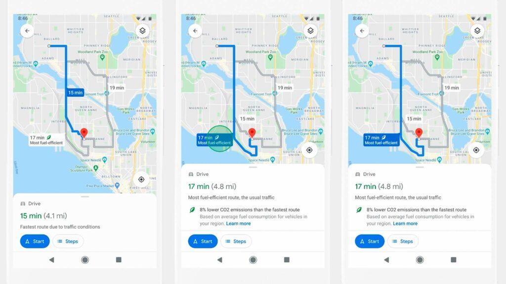 Google Maps trayecto eficiente